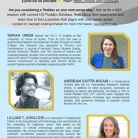 Humanities, Arts and Social Sciences Postdoctoral Panel