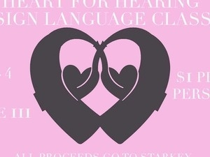 Heart for Hearing Sign Language Class