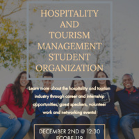 Hospitality and Tourism Management Student Organization First Official Meeting