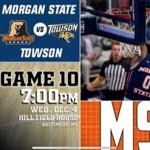 Morgan vs. Towson Men's Basketball Game