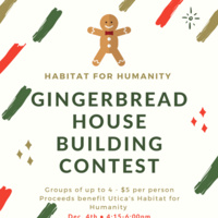 """poster for """"Gingerbread House Building Contest"""""""