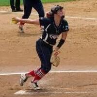 USI softball player pitching softball