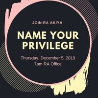 Name Your Privilege
