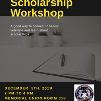 Student  Veterans specific scholarship workshop
