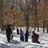 A snowy trek at last year's Featherstone/VCS collaboration
