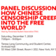 Panel Discussion: How Chinese Censorship Creeps into the Free World?
