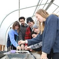 Seed Starting in the Greenhouse at the Garden Commons