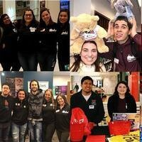 Collage of photos including Miami MAP students at late night events