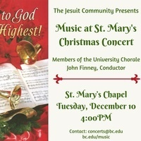 Music at St. Mary's Christmas Concert