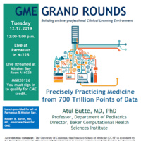 GME Grand Rounds Flyer for December