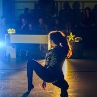 A performer dancing