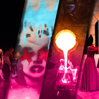 Revelry compilation image with dancers, theatre, design and art.