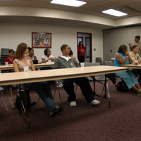 Student meeting in the African American Cultural Center
