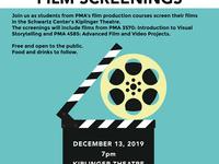 PMA 3570 and PMA 4585 Film Screenings