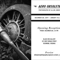 """AERO OBSOLETA"" PHOTOS BY ALLEN JONES OPENING RECEPTION"