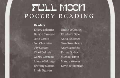 Poetry Reading Poster with list of readers