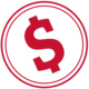 red cash icon
