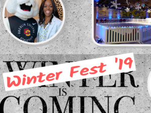 Winter Fest '19 brought to you by Program Board, Student Union and the President's Office