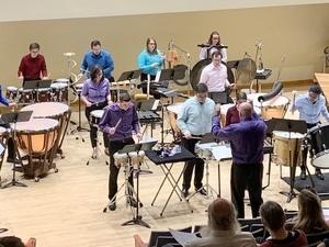 The Slippery Rock University Percussion Ensemble