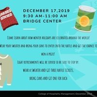 Ugly Sweater Day and Food Drive Raffle