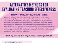 Alternative Methods for Evaluating Teaching Effectiveness