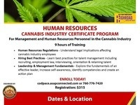 Human Resources Cannabis Industry Certificate Program