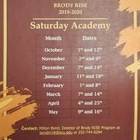 Saturday Academy Sessions (January -May) 2020