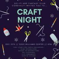 Sci-fi and Fantasy Craft Night