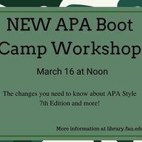 New APA Boot Camp- 7th Edition