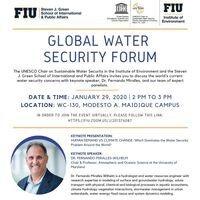 Global Water Security Forum Flyer