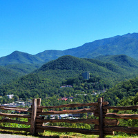 Photo of the mountains in Gatlinburg, TN.