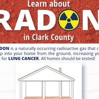 Flyer advertising free radon presentations in Clark County