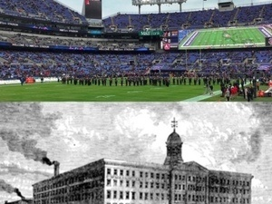 From Pianos to Pigskins: Ravens Stadium Then and Now