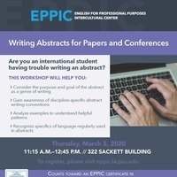 Writing Abstracts for Papers and Conferences