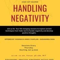 HANDLING NEGATIVITY