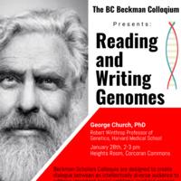 Beckman Scholars Program - Reading and Writing Genomes