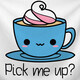 Pick me Up. Cup of coffee.