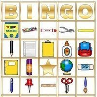 Bingo card with different items