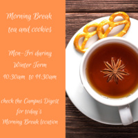 Morning Break: Tea and Cookies with Office of the Dean of Arts and Sciences