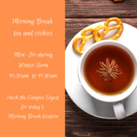 Morning Break: Tea and Cookies with the International Student Resource Center