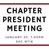 Chapter President Meeting