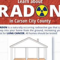 Flyer advertising free radon education presentations in Carson City