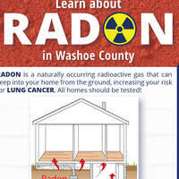 Flyer advertising free radon education presentations in Washoe County