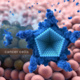 Caption: An illustration shows how an modified porphyrin molecule can carry the OxaliTEX medicine directly into the cancerous cells. Illustration courtesy of iQ Group Global.
