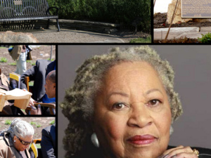 collage of toni morrison and bench project.