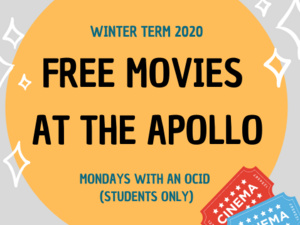 Free Movies at the Apollo flyer