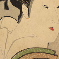 "Utagawa Kunimasa, detail of ""The Actor Iwai Kumetaro as the Kamuro Tayori from the Shimbara District in Kyoto"", 1796. Mary A. Ainsworth Bequest, 1950.473"