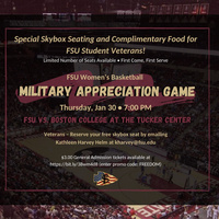 FSU Women's Basketball Military Appreciation Game