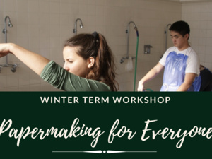 image of students in papermaking workshop