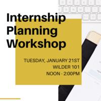 Internship Planning Workshop